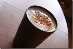 Banana Chai Smoothie (serves 1)    1 heaping tsp. chai spice mix (recipe above)   1 1/2 large bananas, frozen (or 2 small)   4 ice cubes   2/3 cup almond milk   1 tbsp almond, cashew, or coconut butter (optional!)    Combine all ingredients in a blender and blend till smooth.