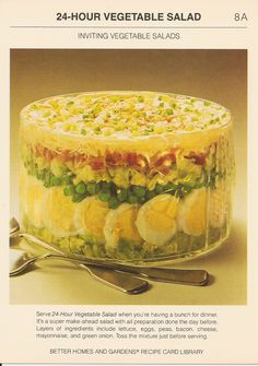 Ingredients 1 medium head iceberg lettuce, torn (about 6 cups) Sugar 6 hard-cooked eggs, sliced 1 10-ounce package frozen peas, thawed (2 cups) 1 pound bacon, crisp-cooked, drained, and crumbled 2 ...
