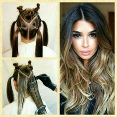 – # - All For Hair Color Balayage Diy Ombre Hair, Brown Ombre Hair, How To Ombre Your Hair, Ombre Hair Color For Brunettes, Hair Color Formulas, Hair Color Techniques, Hair Highlights, Hair Color Balayage, Balayage Ombre