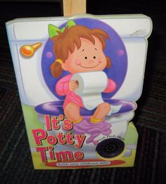 IT'S POTTY TIME FOR GIRLS FLUSH SOUNDING BOARD BOOK, TOILET TRAINING FOR GIRLS