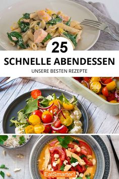 Quick dinner: your top Schnelles Abendessen: Eure Top 25 Quick Dinner: Your Top 25 After-Work Recipes Fast Dinners, Easy Meals, Lunch Recipes, Healthy Dinner Recipes, Fast Recipes, Menu Rapido, Le Diner, Bratwurst, Healthy Cooking