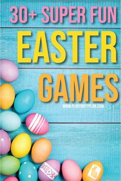 30 Super Fun Easter Activities & Games games Fall Party Games That Are Perfect for Kids and Adults Fall Party Games, Easter Party Games, Fun Christmas Party Games, Birthday Party Games For Kids, Fall Games, Adult Party Games, Halloween Party Games, Christmas Bingo, Holiday Games