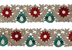This awesome design is of Embroidery Cutwork . Its product code is: 005076 , Its size is: 75 mm. Material used is 100% Polyester . This Embroidery Cutwork comes with Plain decoration. As seen design pattern is Flower . Locally this lace is also known as Cutwork Lace . This Embroidery Cutwork item have 1 colors available in this design. This lace can also be used in Salwar Kameez , Saree , Saree Border etc.