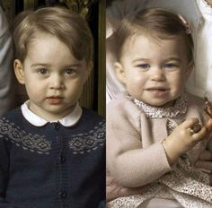 The Cambridge Kids - amazing resemblance between Charlotte & the Queen!