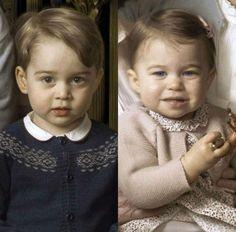 The Cambridge Kids - amazing resemblance between Charlotte & the Queen! The grandchildren of Princess Diana!!