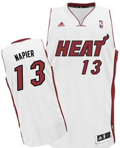 adidas Revolution 30 Miami HEAT Shabazz Napier Youth Swingman Jersey White