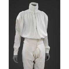 Shirt   British, 1775-1800   Linen   V&A: T.360-1984    Breeches   France, 1775-1800   Linen   V&A: T.608-1996 [2013-2015]