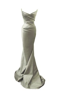 Occasionwear by Couture designer Angelina Colarusso - Silver silk Duchess satin floor length gown - Eveningwear - mother of the bride - event dressing Event Dresses, Ball Dresses, Ball Gowns, Best Wedding Dresses, Boho Wedding Dress, Backless Wedding, Tulle Wedding, Mermaid Wedding, Pretty Dresses