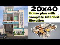 Interior House Plan Furniture Hgtvcom House Plan With Interior Elevation 800 Sq Ft 35 Marla House Plan Interior Design Videos, Small House Interior Design, House Design, 20x30 House Plans, House Plans 3 Bedroom, Narrow House Plans, Simple House Plans, Duplex Floor Plans, House Floor Plans