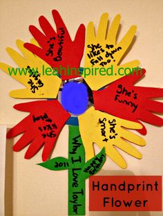 Leah Inspired: Hand Print Flower
