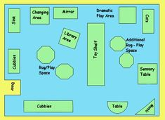 daycare classroom ideas | Toddler classroom layout / Preschool classroom layout