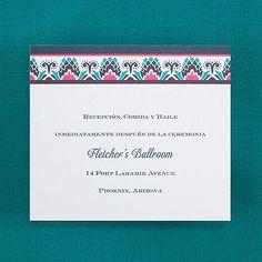 Color Burst - Reception Card weddingneeds.carlsoncraft.com