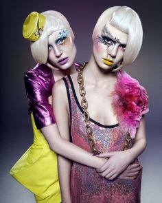 Makeup by Chris Milone (left) & Roshar (right)