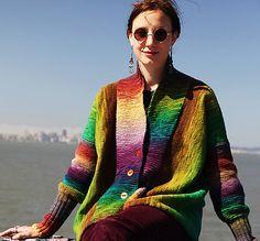 Cardigan Agata: LE modèle tricot gratuit parfait pour les laines multicolores! Coup de coeur assuré pour le modèle de cardigan Agata !...