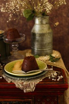 chocolate and caramel coulant