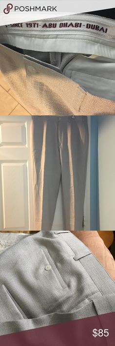 Tailored made men slacks from Dubai These fine slacks were tailored made in Dubai. Only worn once and dry cleaned. Excellent condition. Tailored Made Pants Dress