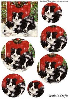 dog tired on Craftsuprint designed by Carol Brown - 3 cute friends good for fathers card - Now available for download!
