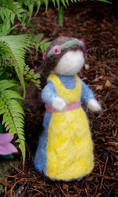 passengers on a little spaceship: needle felted mother earth doll