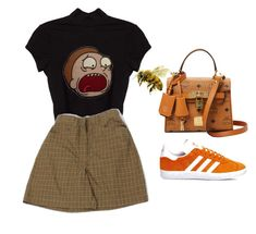"""Sans titre #708"" by theliatevi ❤ liked on Polyvore featuring adidas, MCM and My Mum Made It"