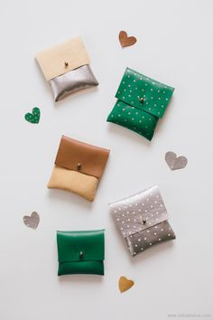 HOW TO faux-leather pouch