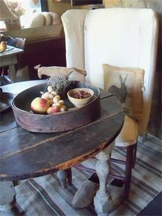 Sweet Annie Primitives and make do chair..