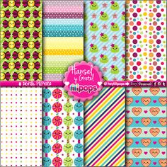 Digital paper - Instant Download - Stationery Printable - Kawaii - Scrapbook supplies - Confetti - Scrapbooking - Hansel y Gretel - Etsy - Lilipops - DIY