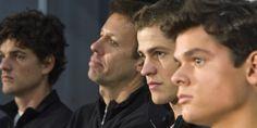 Canada's Davis Cup team: Frank Dancevic, Daniel Nestor, Vasek Pospisil and Milos Raonic - back in the World Group