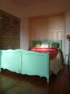 Painted Louis Style Vintage French Bed