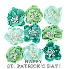 Happy St. Patrick's Day! Get your green on with fun flowers by Prima! Perfect for adding a touch of luck to your hair, purse, and anything else you want to add a flower to. #stpatricksday #stpaddysday #green #goodluck