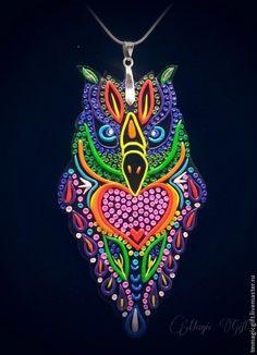 """Кулон """"Сова - символ мудрости"""". Handmade."""