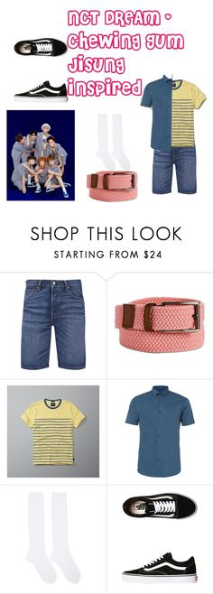 """""""NCT DREAM - Jisung inspired"""" by breananicolas ❤ liked on Polyvore featuring Levi's, Perry Ellis, Abercrombie & Fitch, Topman, Hyke and Vans"""