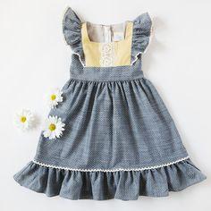 Flutter Dress - Chambray Dots