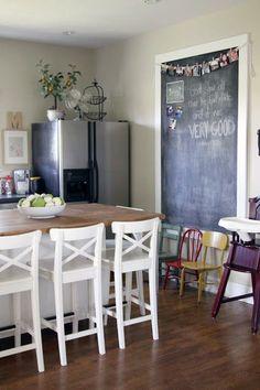 White Framed Chalkboard | Custom Size Chalk Board | Custom Framed Chalkboard