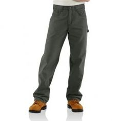 97ec73a5b6cf7 Carhartt Flame-Resistant Loose Fit Midweight Canvas Jean · Mens Work ...