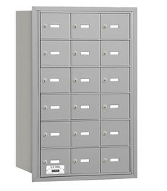 4B+ Horizontal Mailbox 18 Doors Rear Loading USPS Access