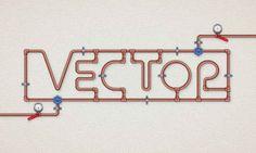 Convertir textos en cables y en tuberías con Illustrator