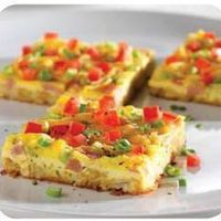 Ham and Cheese Brunch Squares by Pampered Chef made these for Easter breakfast.*use the stoneware baking pan