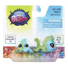 Littlest Pet Shop Special Edition minis Seafoam Dazzleshell & Brillia Beryl Little Pet Shop, Little Pets, Lps Pets, Lps Littlest Pet Shop, Cool Gifts For Kids, Sea Foam, My Little Pony, Minis, Kids Toys