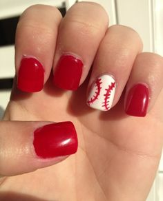 Baseball nails.... So doing this for the Cleveland Indians game