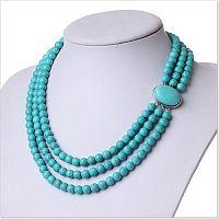Ожерелье из трех рядов бирюзы