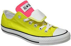 converse. I'm serious. pink/yellow. the 2 color ones?? Yes.
