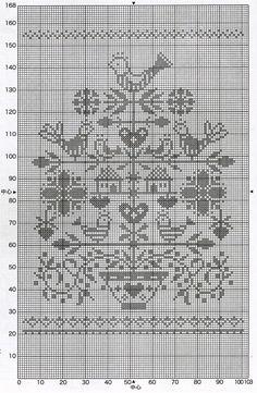 Cross Stitch Bird, Cross Stitch Samplers, Cross Stitching, Cross Stitch Embroidery, Cross Stitch Patterns, Crochet Birds, Crochet Curtains, Weaving Patterns, Christmas Cross