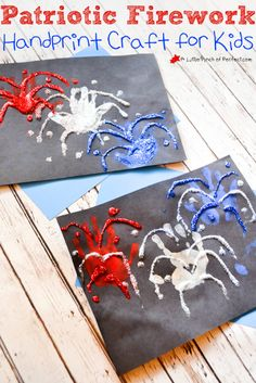Fourth of July Firework Handprint Craft for Kids