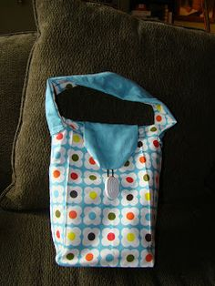 How to Make a Reuseable Lunch Bag from a Tea Towel