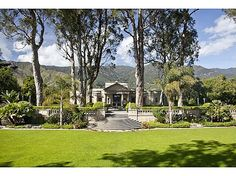 Former Knapp music pavilion on 4-ac w/grand formal gardens,circular pool,Roman fountains,terraces,mature trees,re-designed into veritable showplace for art,an assertive architectural masterpiece. Flooded w/light,mtn views,sophisticated serene,lighted Tennis Ct,Gst/Staff Hse,Roman columns/walls, pvt,a unique Estate #zillow