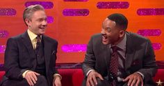 Etiquette tip: When they have to pee, let them be!  Martin Freeman, Will Smith, Helen Mirren, and Naomie Harris were recently on 'The Graham Norton Show' and the topic of fan encounters came up. Freeman said he can tell immediately, just by looking at fan
