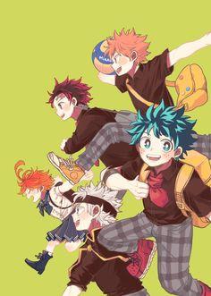 Anime Chibi, Fanarts Anime, Haikyuu Anime, Manga Anime, Anime Art, Otaku Anime, Anime Boys, Anime Crossover, Fandom Crossover