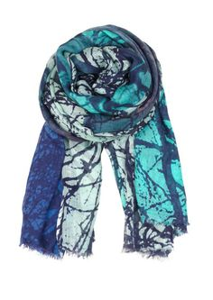 Becksondergaard H Butterfly Tree Cashmere Blend Scarf - Bay. Over a simple white tee and a rolled up boyfriend jean. Perfect addition!