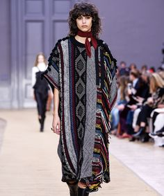 Chloe Fall Winter PFW 2016 French Neck Ties | For fall, Chloé showed French neck scarves with its biker girl-meets-boho selection. #refinery29 http://www.refinery29.com/2016/03/105234/chloe-french-neck-ties-pfw-2016