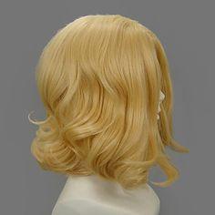 Ruler Cosplay Heat Resistant Fiber inspired by Hetalia France Medium Golden wig $17.49 #Lovejoynet  #Cosplay  #Wigs